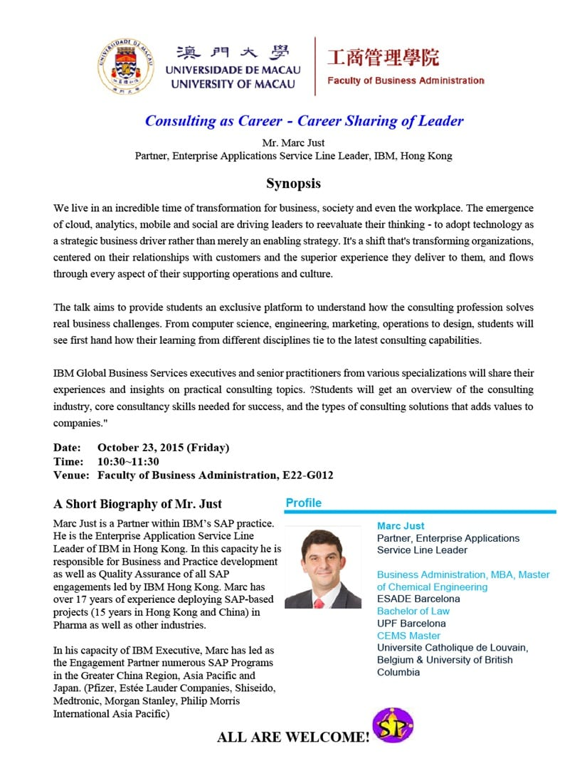 Consulting as Career - Career Sharing of Leader