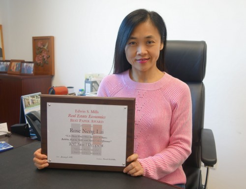 UM professor Rose Lai wins Edwin S Mills Real Estate Economics Best Paper Award