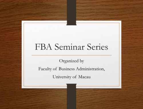 FBA Seminar Series No.11/1819 – Stereotyping in Hospitality Research Using Experimental Design