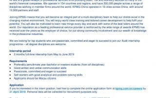 Internship and Career Opportunities - Faculty of Business