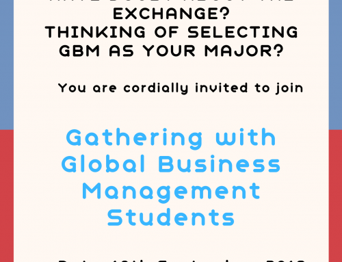 "Invitation to Join ""Gathering with Global Business Management Students"" (Sep 18, 18:45, E22-G012)"